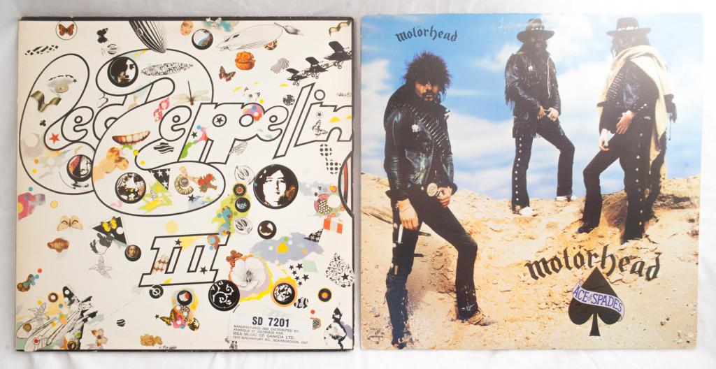 Motorhead Led Zepplin Vintage Record Album