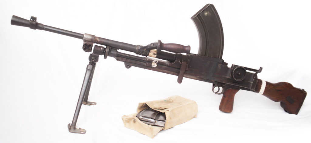 World War Two Canadian INGLIS BREN Deactivated Machine Gun w/ Magazine