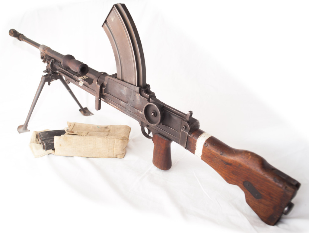 World War Two Canadian INGLIS BREN Deactivated Machine Gun Side View