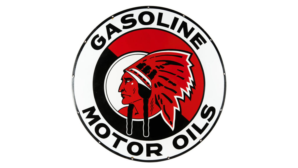 Gasoline Motor Oils Vintage Sign