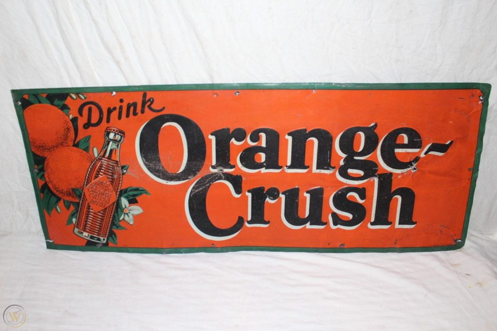 Orange Crush Vintage Sign
