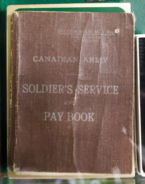 Soldiers Service Pay Book