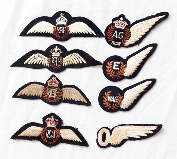 WW2 era and post war RCAF and RAF wings