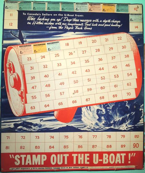 Canada U-Boat Stamp Poster