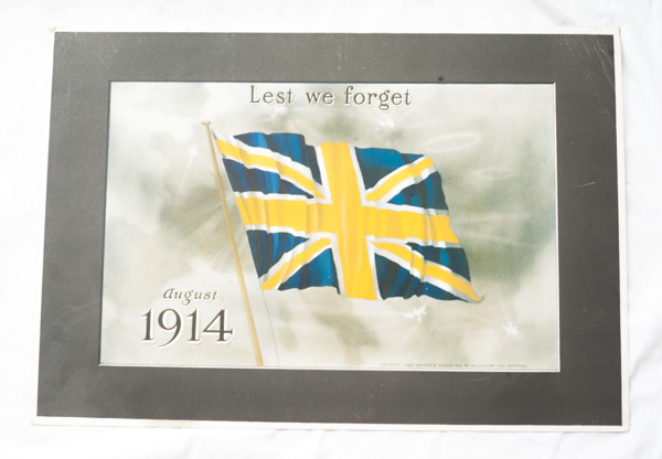 Lest We Forget Photo 1914
