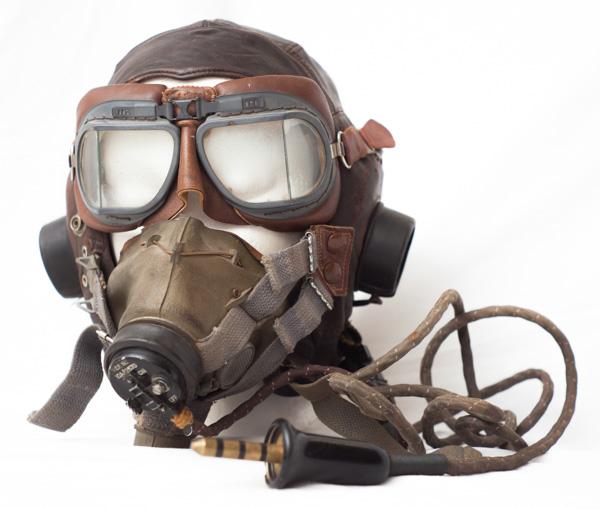 WW2 dated Royal Canadian Air Force (RCAF) flight helmet