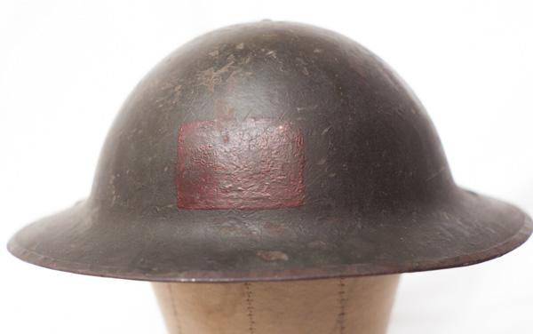 WW1 Canadian Brodie helmet with unit insignia