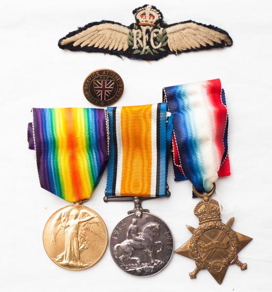 RFC WW1 medal grouping