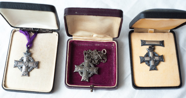 Canadian Memorial Cross medals