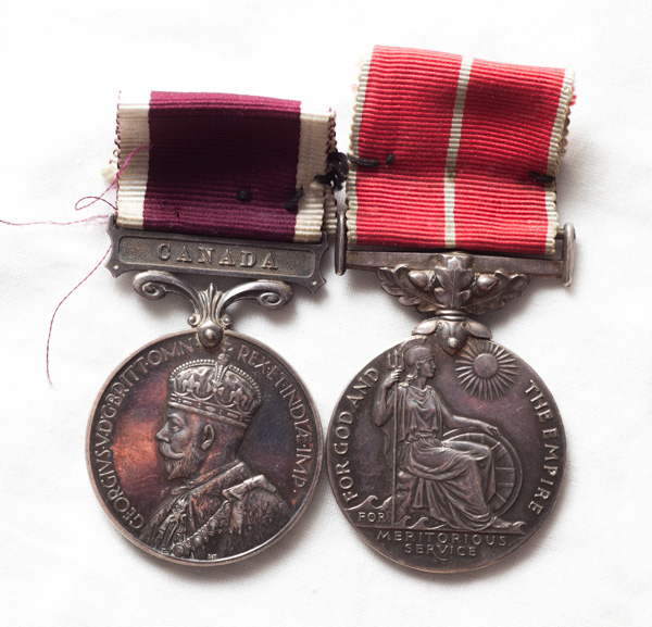 Canadian Long Service and Good Conduct medal and Meritorious Service medal