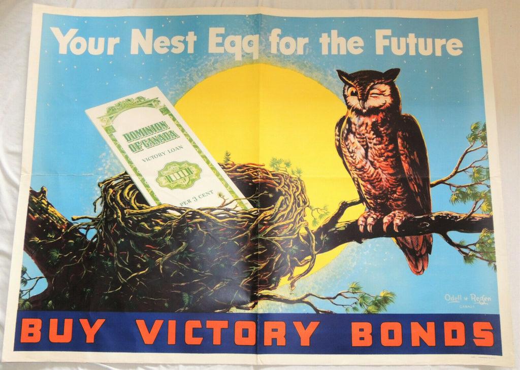 Nest Egg Victory Bonds Poster