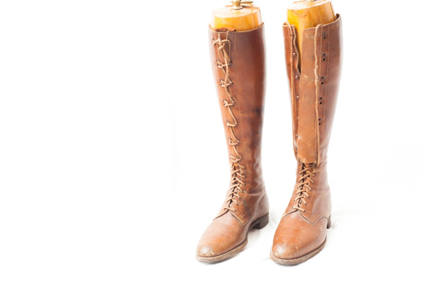 World War One Canadian/British pattern military leather boots